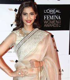 Buy Latest New Sonam Kapoor Tusser Silk Saree sonam-kapoor-saree online