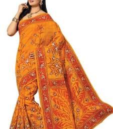 Buy Aria Orange cotton printed summer collection saree ks355 cotton-saree online