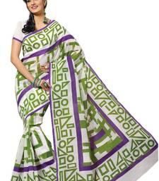 Buy Aria Green cotton printed summer collection saree ks357 cotton-saree online