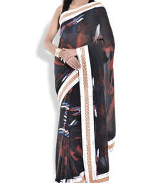 Buy Muticolour lehnga saree georgette saree with blouse georgette-saree online