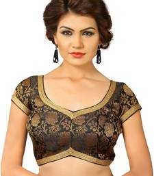 Buy Black embroidred Brocade readymade-blouse readymade-blouse online