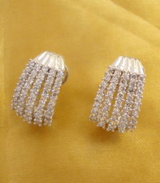 Buy Five line Baali in ( white rhodium ) Earring online