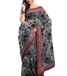 Buy Grey Tissue Saree with Blouse tissue-saree online