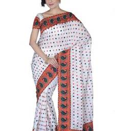 Buy Traditional Off White Silk  Saree with Blouse silk-saree online