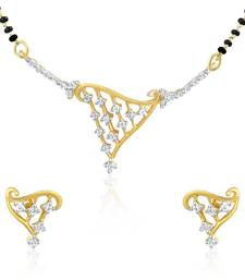 Buy Mahi Gold Plated Mangalsutra Pendant Set with CZ for Women NL1101401G mangalsutra online