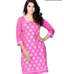 Buy Miss & Mrs Casual / office wear 3/4 Sleeve Printed Women's Kurti kurtas-and-kurti online