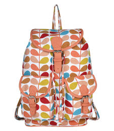 Buy Multicolor Canvas with PU Flap Sandy Backpack backpack online