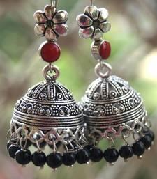 Buy anetra black maroon statement jhumka jhumka online