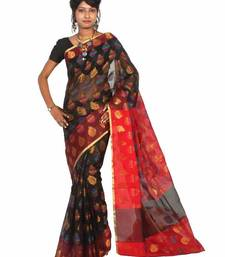 Buy Supernet Resham Zari Work Patola Saree supernet-saree online