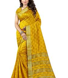 Buy Yellow printed cotton silk saree with blouse kota-silk-saree online