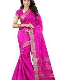 Buy Pink printed cotton silk saree with blouse kota-silk-saree online