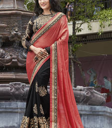 Buy Pink embroidered georgette saree with blouse priyanka-chopra-saree online