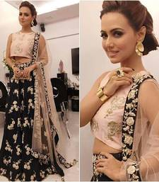 Buy Black embroidery banglory lehenga with choli bollywood-lehenga online