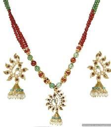 Buy Diwali Discount offers - KSHITIJ TRADITIONAL PEACOCK GOLD PLATED PENDANT KJ 164 Pendant online
