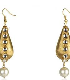 Buy Diwali Discount offers - KSHITIJ  ETHNIC GOLD PLATED  HANGGING EARRING KJM 048 diwali-discount-offer online