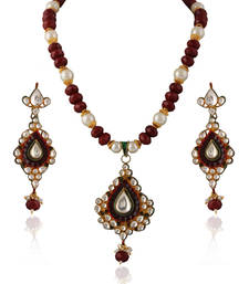 Buy Essentially Indian kundan pendant set necklace-set online