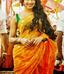 Buy Priyanka Chopra Orange Saree In Gunday priyanka-chopra-saree online