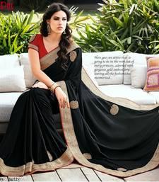 Buy Black Color Styloce Designer Bhagalpuri Saree bhagalpuri-silk-saree online