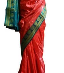Buy Banarasi Art Silk Red Saree With Zari Work and Blouse banarasi-silk-saree online