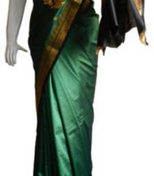 Buy Green Banarasi Silk Saree  3010-2241 banarasi-silk-saree online