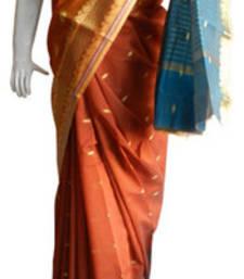 Buy Orange & Pink Banarasi Silk Saree 2120-2186 banarasi-silk-saree online