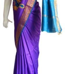 Buy Dark Blue & Light Blue Banarasi Silk Saree 3805-2276 banarasi-silk-saree online