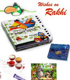Buy Rakha bandhan Gifts - Angry Bird Diary Jigsaw Puzzle and Rakhi Hamper rakhi-gifts-for-sister online