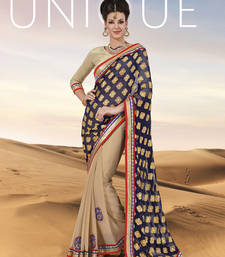 Buy Awesome Violet Designer saree party-wear-saree online