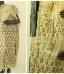 Buy Pure Tussar Block Printed Dupatta stole-and-dupatta online
