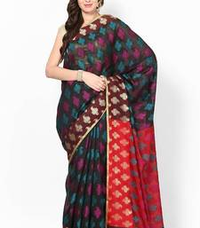 Buy Chanderi Cotton Fancy Multi Banarasi Saree chanderi-saree online