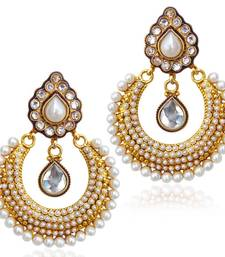Dazzling colourful pearl sparkling earring,ethnic India bollywood jewelry ab2w shop online