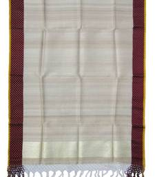 Buy Tussar Dupatta with Satin border stole-and-dupatta online