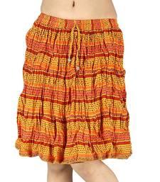 Buy Ethnic Designer Sanganeri Cotton Short Skirt skirt online