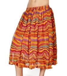 Buy Stylish Multi Color Ethnic Chiffon Short Skirt skirt online