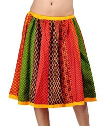 Buy Jaipuri Multi Color Pure Cotton Lehanga Skirt skirt online