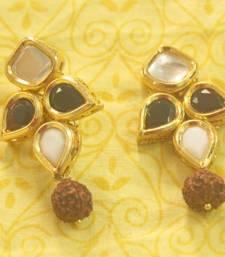Buy Kundan Rudraksh Earring danglers-drop online