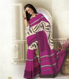Buy NeelFab Pink art_silk printed-sarees printed-saree online
