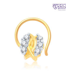 Buy Sukkhi Modern Gold and Rhodium Plated CZ Nose Pin(36007NPCZK200) nose-ring online