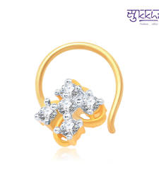 Buy Sukkhi Eye-Catchy Gold and Rhodium Plated CZ Nose Pin(36013NPCZK200) nose-ring online