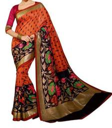 Buy Mulicolor printed bhagalpuri silk saree with blouse bhagalpuri-silk-saree online