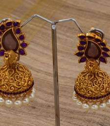 Buy Purple paisely peacock jumka jhumka online