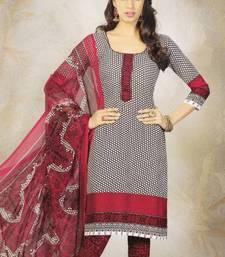 Buy Elegant Crepe Designer Printed Unstitched Dress Material Suit D.No 8159 dress-material online