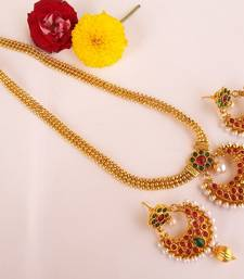 Buy Awesome multicolor kemp long necklace set necklace-set online