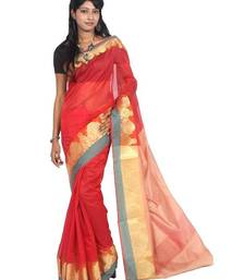 Buy Cotton Resham Zari Banarasi Border Saree cotton-saree online