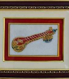 Buy eCraftIndia Marble Painting of Saraswati Veena wall-art online