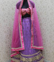 Buy Purple pink border lehenga lehenga-choli online
