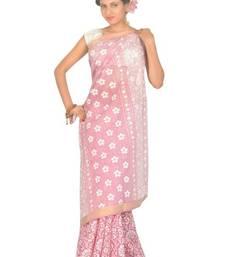 Buy Aria Printed Pink Cotton Saree TTS1004B cotton-saree online