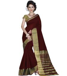 Buy maroon plain bhagalpuri silk saree with blouse bhagalpuri-silk-saree online