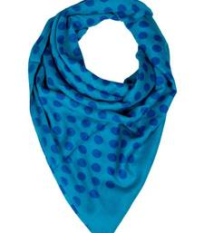 Buy BLUE POLKA DOT STOLE BY ELABORE stole-and-dupatta online