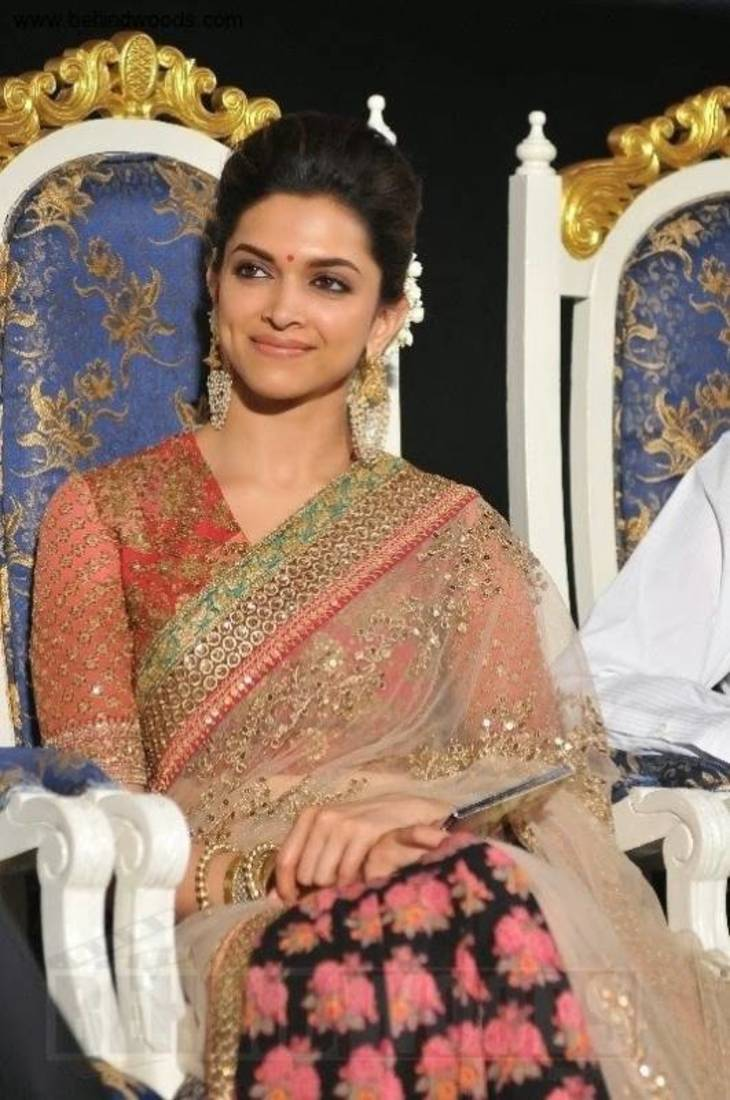 Buy Deepika Padukone Half Half Saree At Music Launch Party